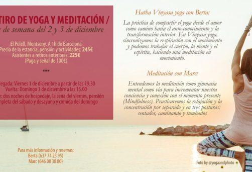 Retiro EN MONTSENY Yoga y Meditación y Pranayama – 1/2/3 Diciembre 2017